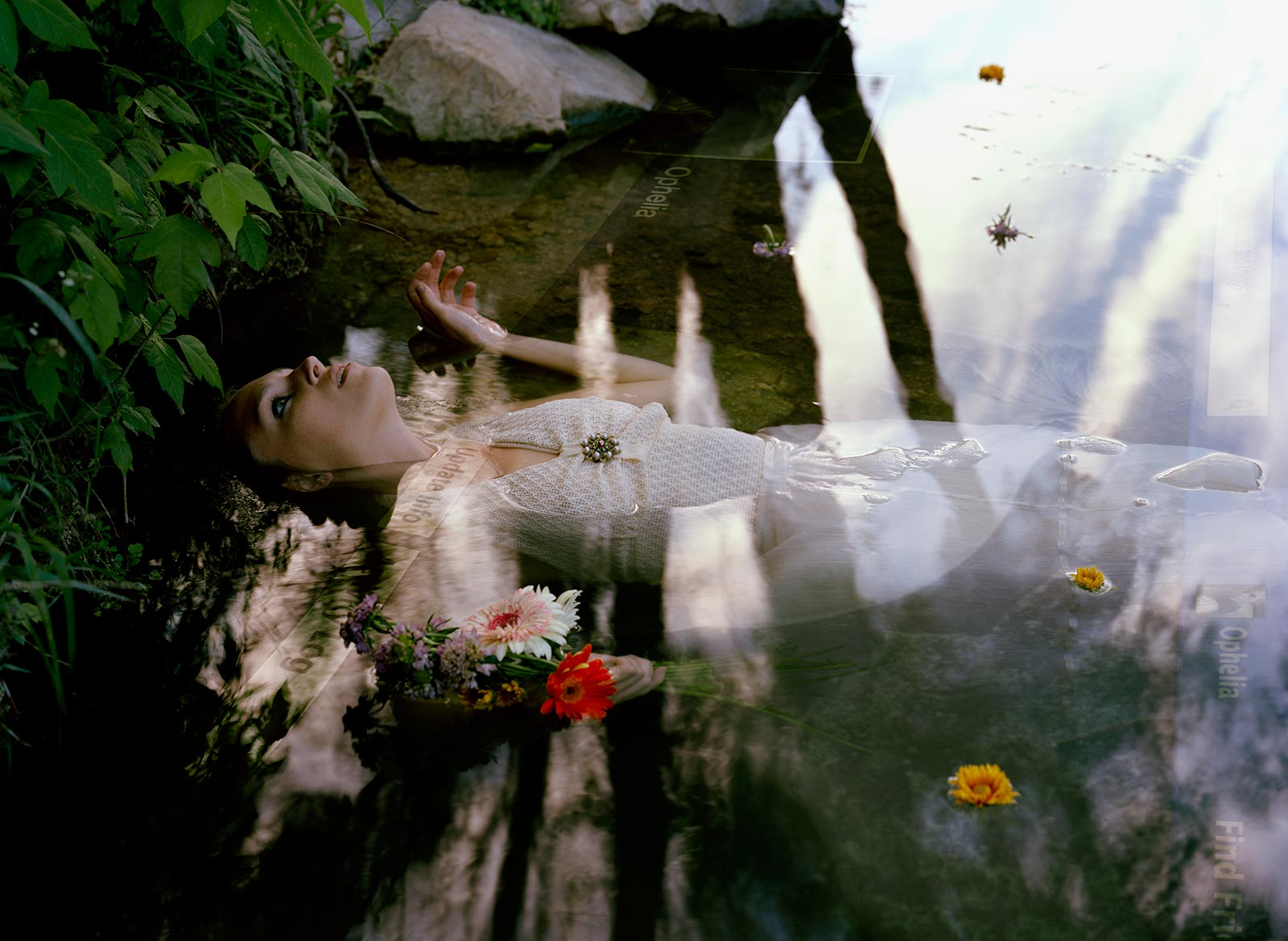 "Online Ophelia:   39"" x 28.5"" Large Format C-Print"
